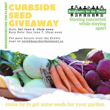 Sat June 6, 2020 - NftP Curbside Seed Giveaway