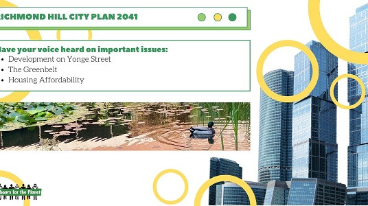 Call to Action - Have your voice heard in the Richmond Hill's City Plan 2041