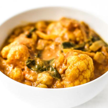Coconut Cauliflower Chickpea Curry {Vegan}