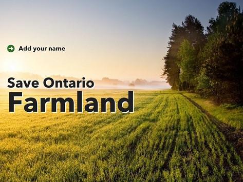 Save Ontario's farmland