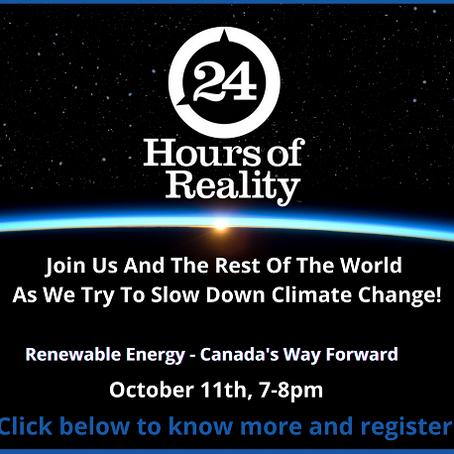 Sun Oct 11, 7pm - Renewable Energy - Canada's Way Forward