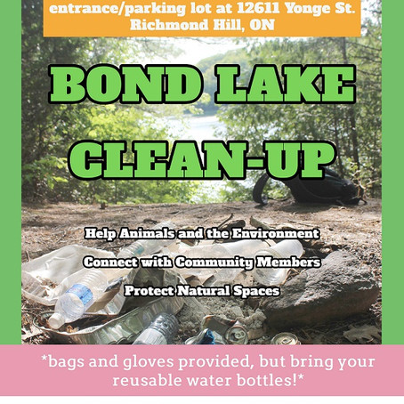 Oct 27, 10am: Bond Lake Clean-Up