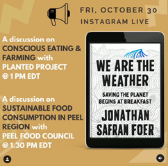 Instagram Live Discussion on 'We are the Weather' by Jonathon Safron Foer