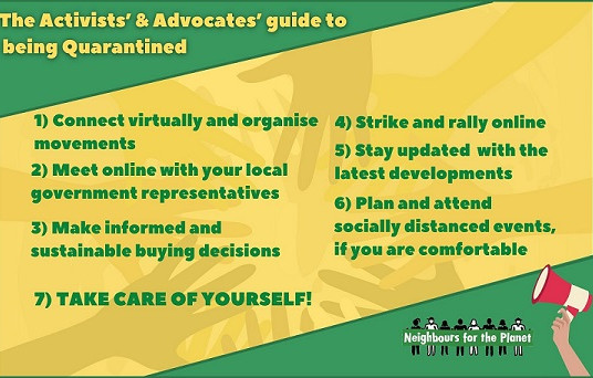 The Activists' & Advocates' guide to being Quarantined