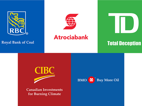 Tell Canadian banks to stop funding fossil fuel companies