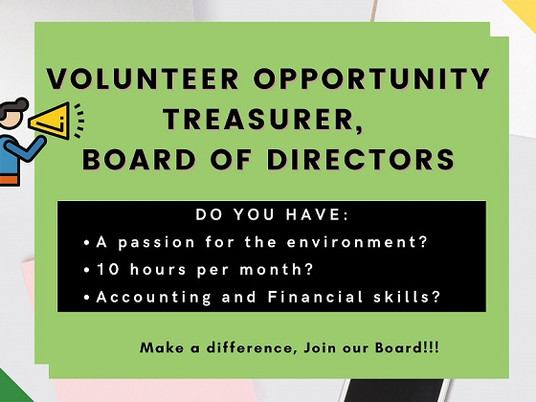 NftP Volunteer Position: Treasurer, Board of Directors