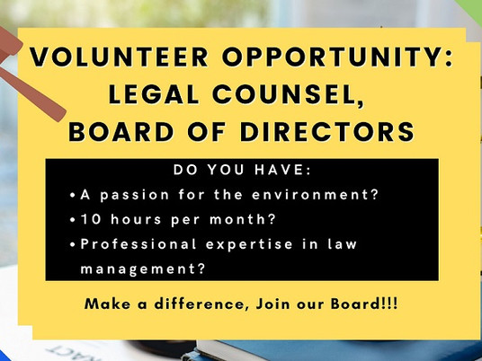 NftP Volunteer Position: Legal Counsel, Board of Directors