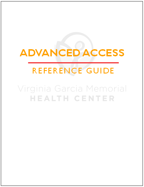 Advanced Access Reference Guide