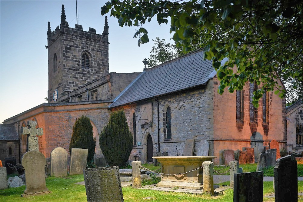 St Lawrence Church in the village of Eyam
