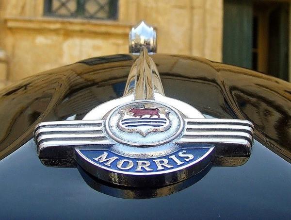 A close up of the Morris logo
