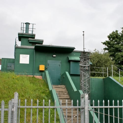 The exterior of York Cold War Bunker.