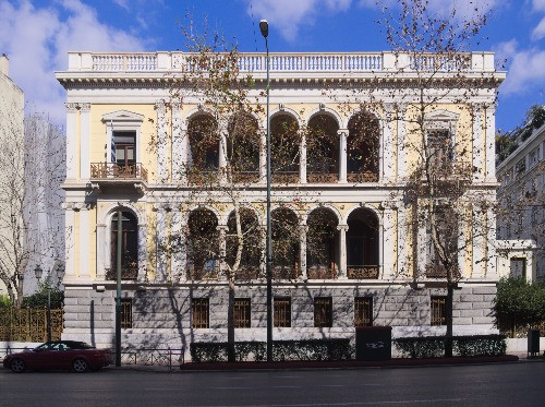 The outside of Heinrich Schliemann's house in Athens.