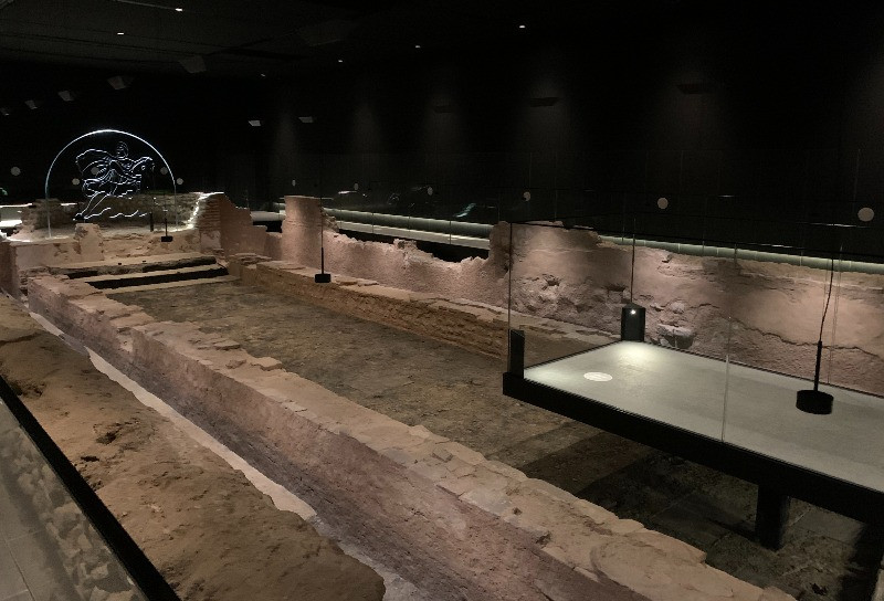 The Mithraeum showing the central platform