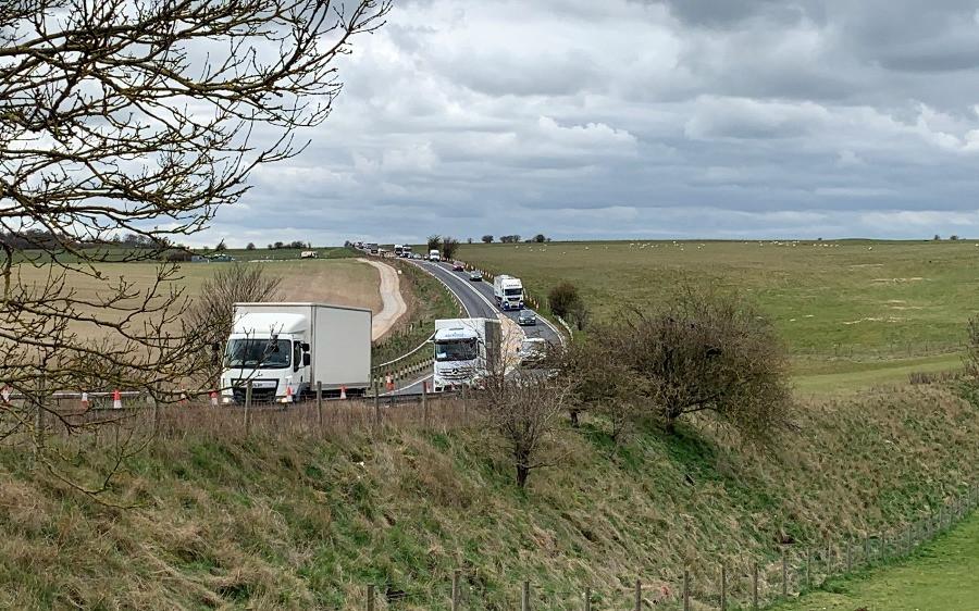 The road next to Stonehenge