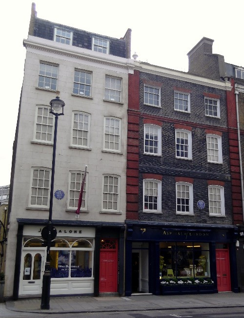 The exterior of the Handel and Hendrix flats in Mayfair.