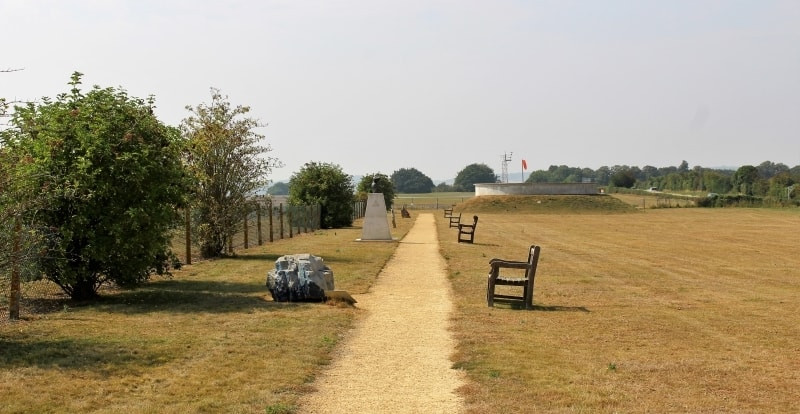 The path leading to the memorial to Army Flying
