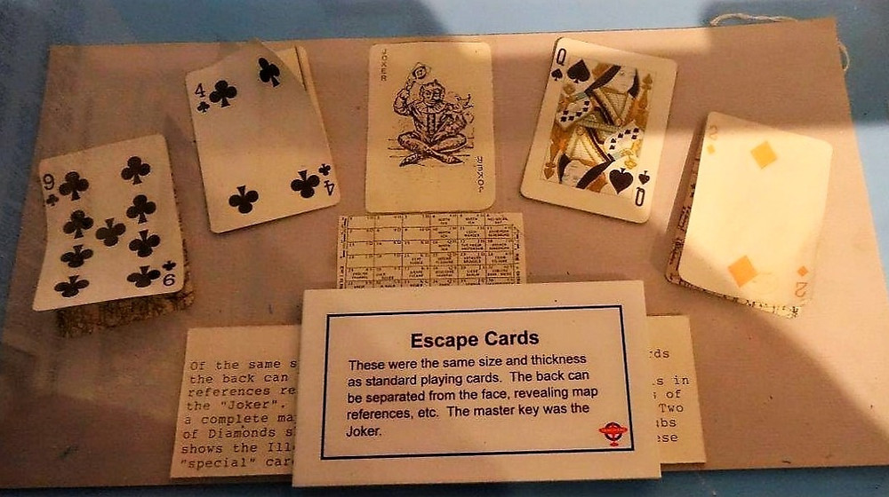 A set of playing cards on display in RAF Tangmere