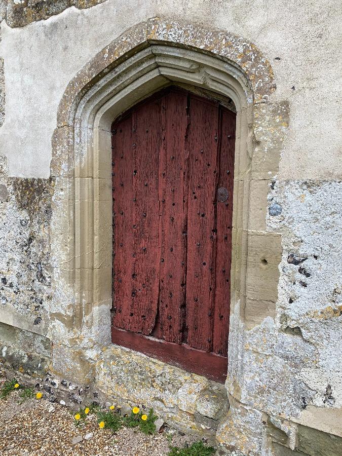 The west door of the church