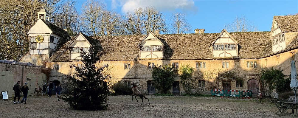 A courtyard at Lacock Abbey