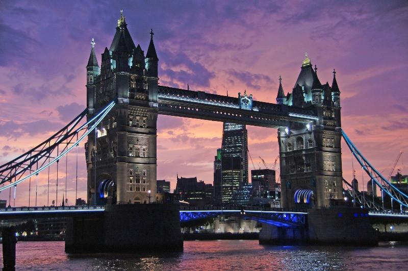 Tower Bridge in central London