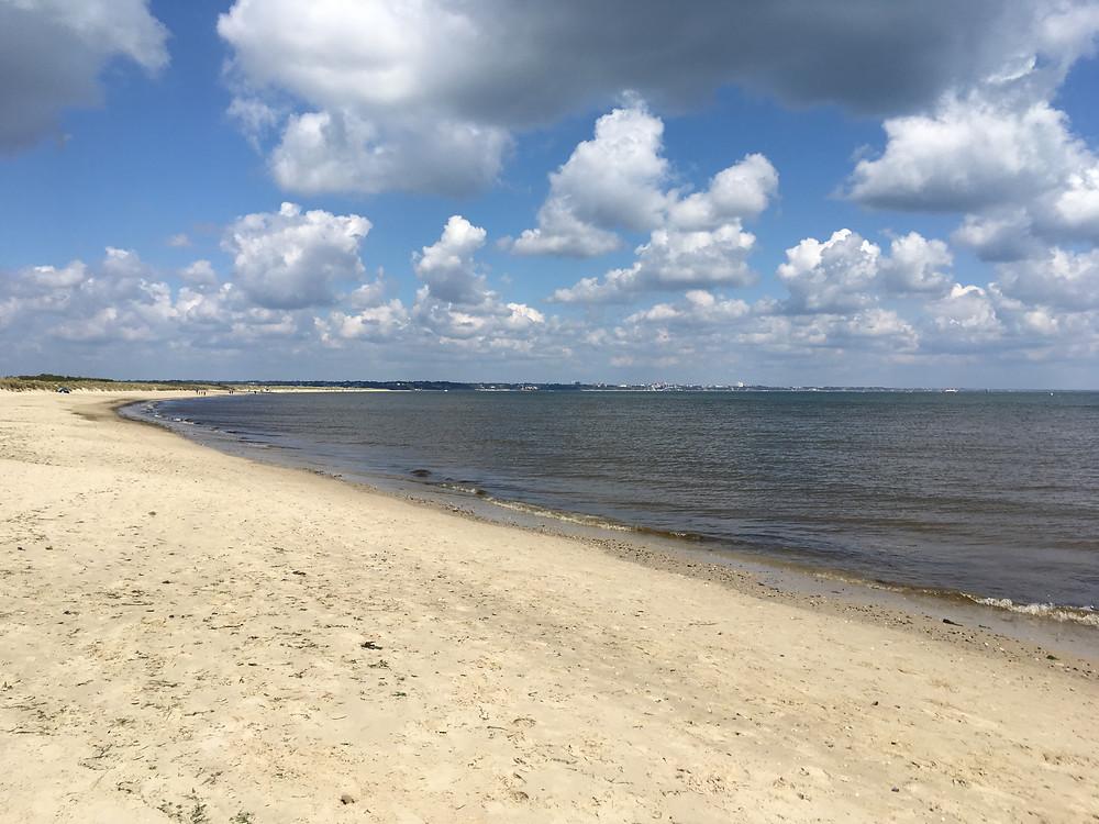 The golden sands of Studland Beach