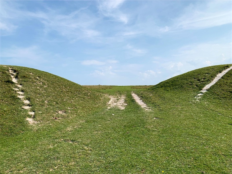The earthworks at Figsbury Ring.