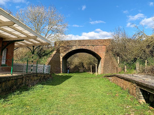 BREAMORE HALT AND THE BREAMORE RAILWAY WALK
