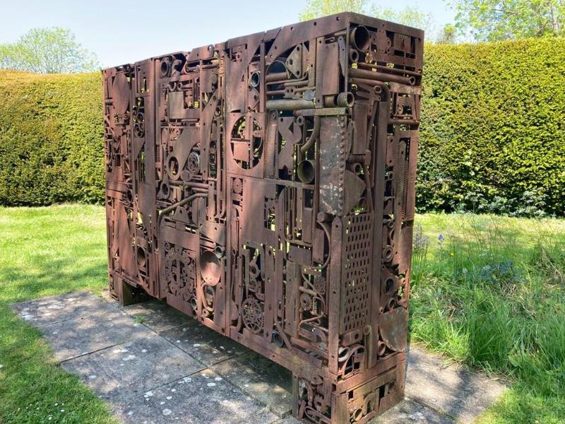 Paul Roberts-Holmes sculpture called Quaba-La Found Metal