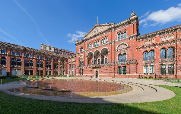 The exterior of the Victoria & Albert Museum