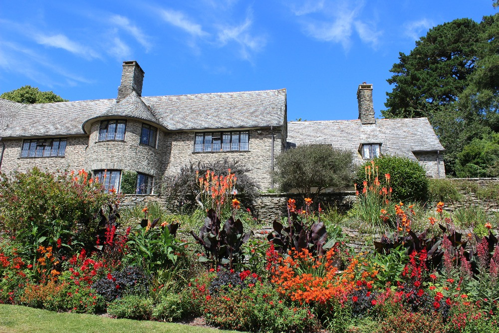 The outside of Coleton Fishacre in the sunshine