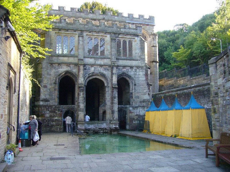 The pool and outside of St Winefrede's Well