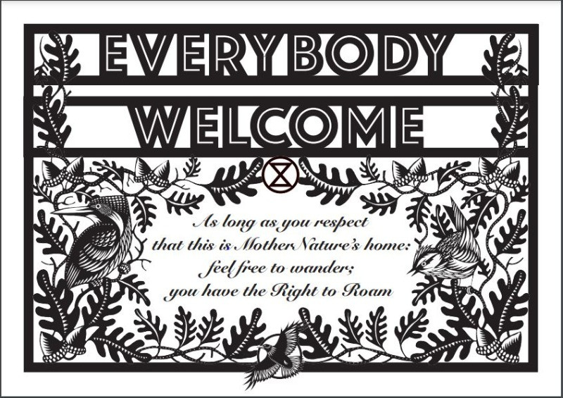 Everybody Welcome campaign poster
