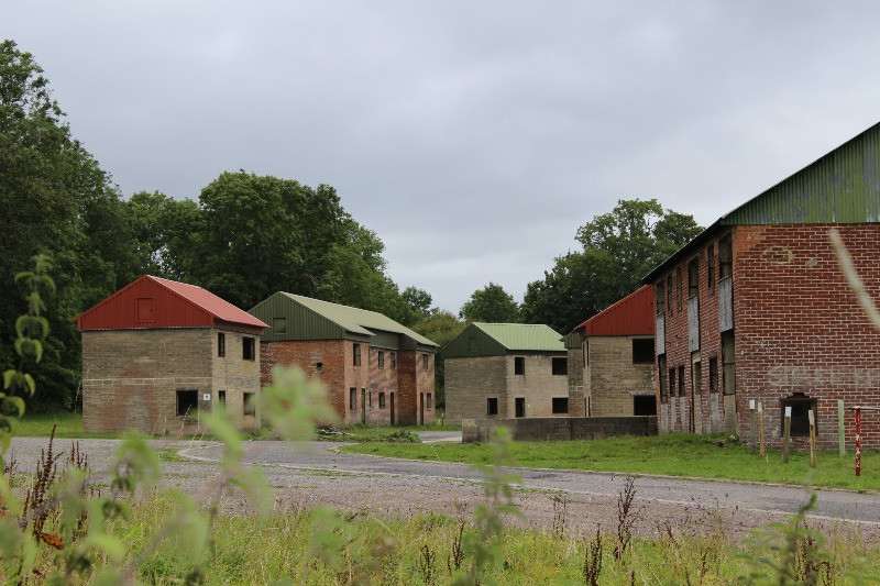 New houses with tin roofs and no windows