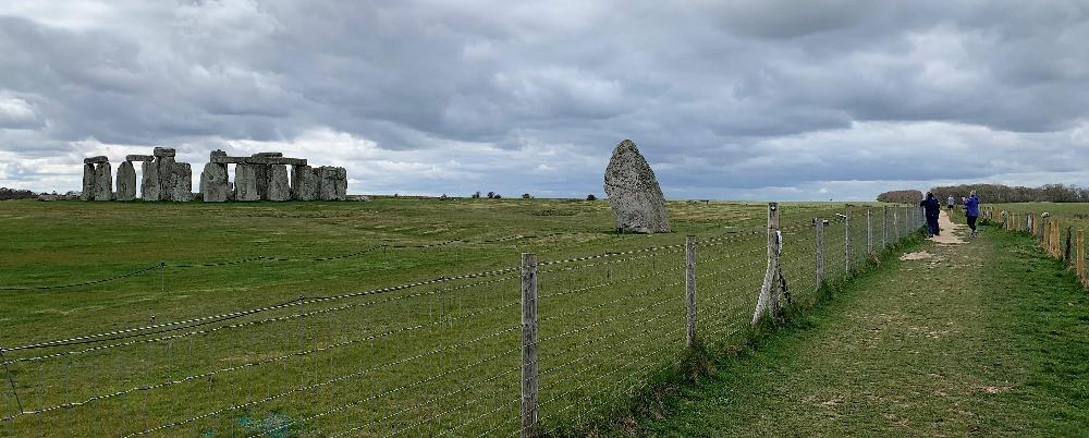 The path running next to Stonehenge