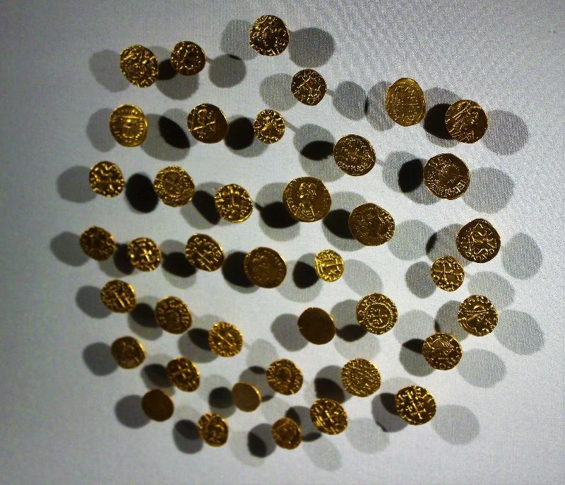 Coins found at Sutton Hoo