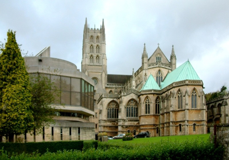 The exterior of Downside Abbey