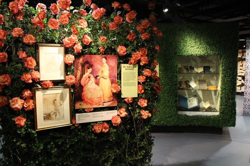 A display covered in roses