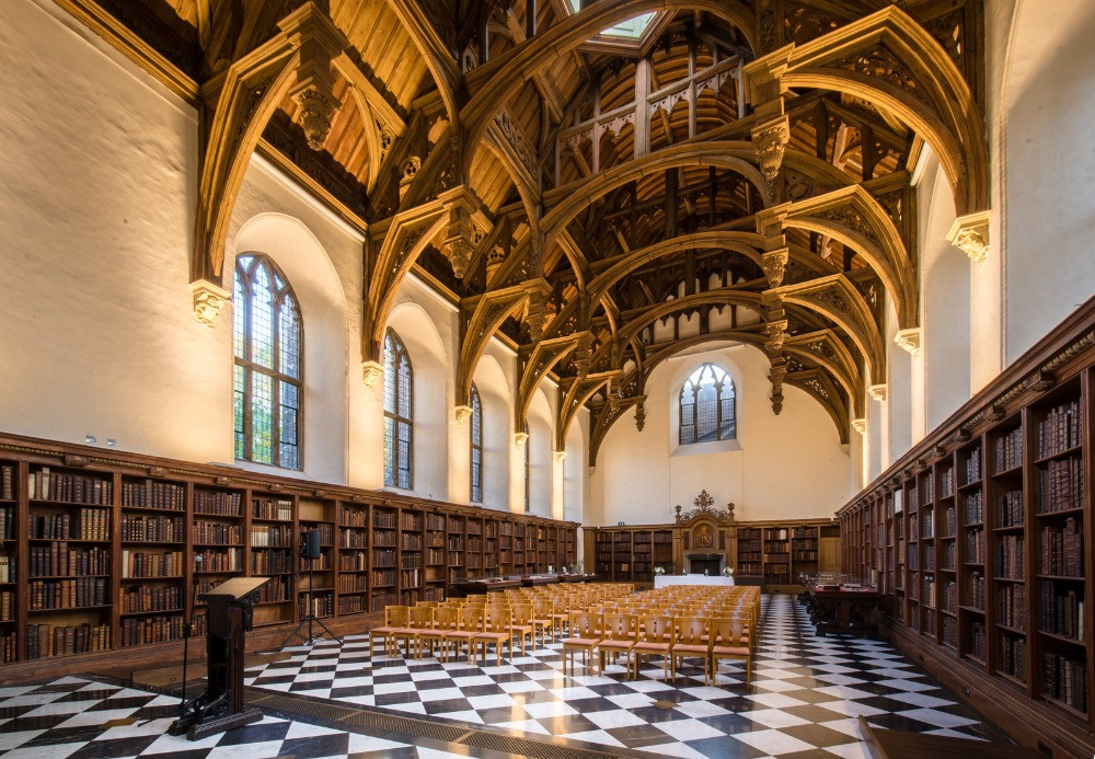 The vaulted ceiling of the Great Hall.