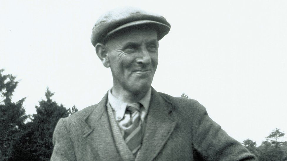 An old photo of Basil Brown