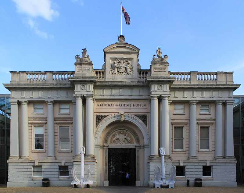 The outsid eof the Natioal Maritime Museum in Greenwich