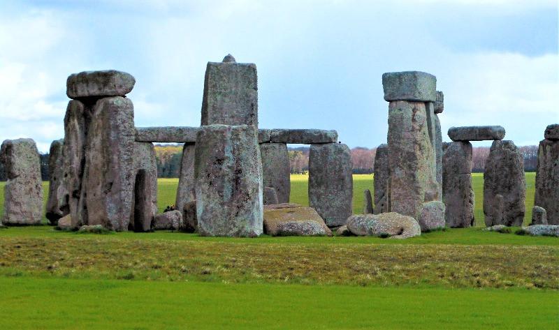 The inner circle of Stonehenge