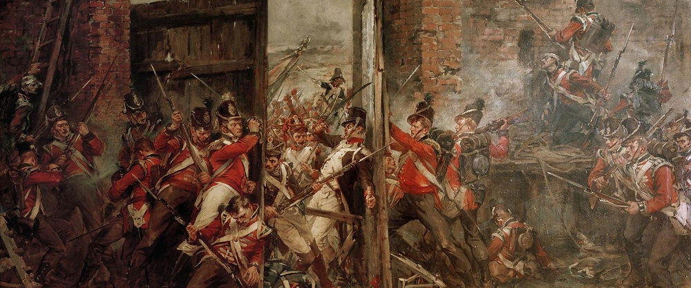 The painting Closing the Gates at Hougmont.