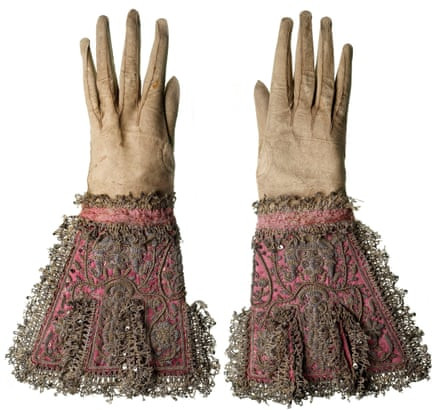 The gloves worn by Charles I at his execution.