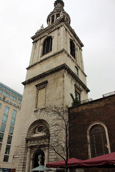 The bell tower of St Mary le Bow