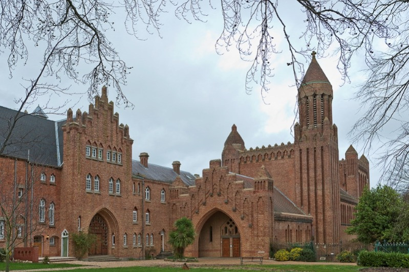 The exterior of Quarr Abbey