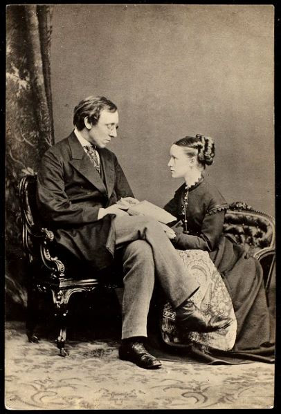 A sepia photo of Henry and Millicent Fawcett