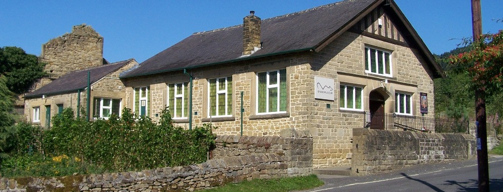 The outside of the Eyam village museum