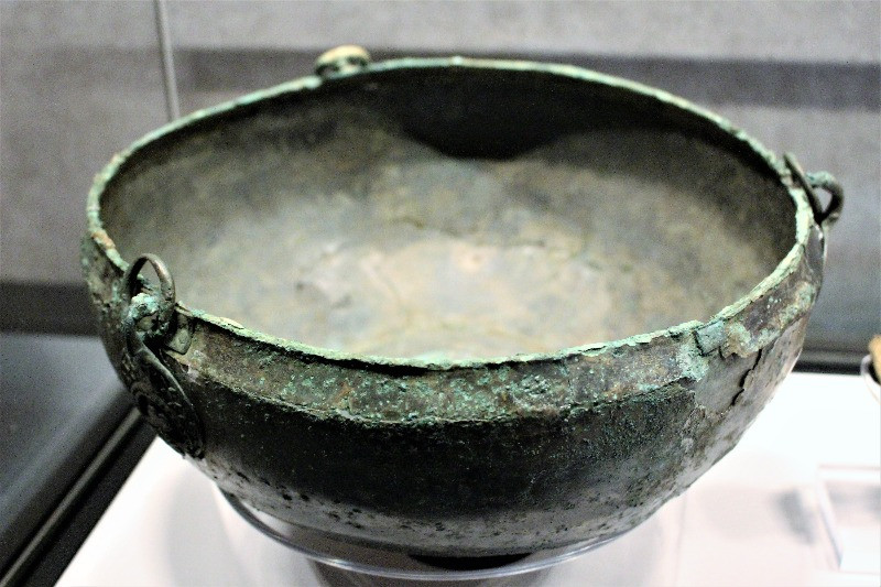 A close up of a small bowl