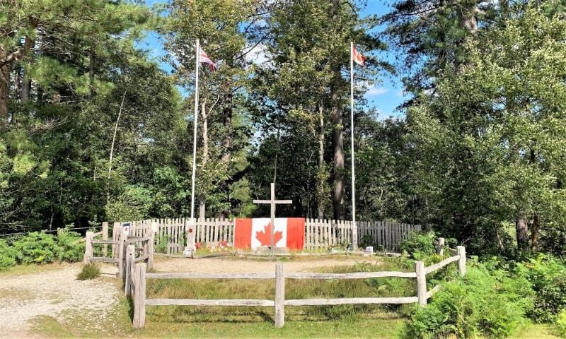 The Canadian War Memorial surrounded by the trees of the New Forest