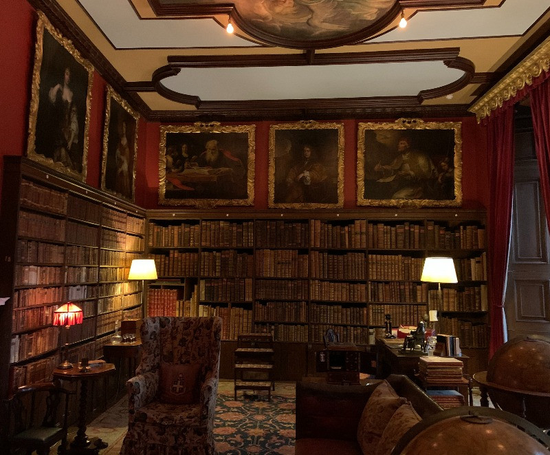 Inside the library at Kingston Lacy